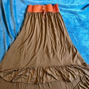 Dresses & Skirts - Olive High-Low Skirt